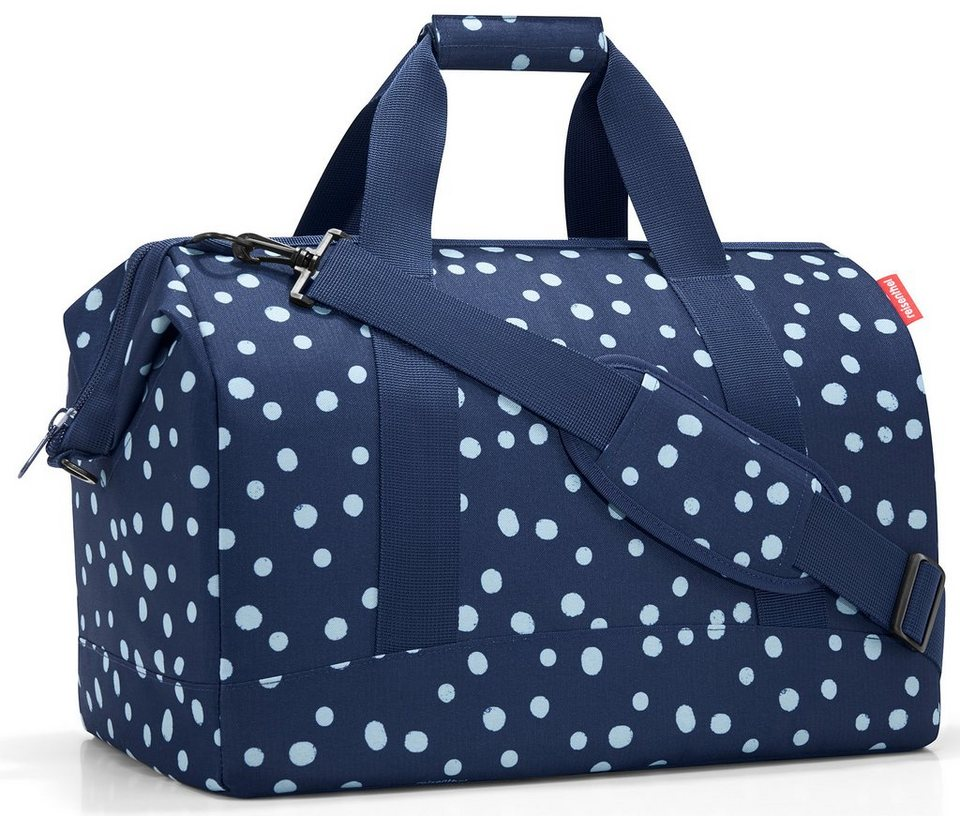 reisenthel® Reisetasche spots navy, »allrounder L« in blau/weiß