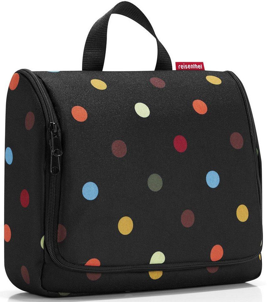 reisenthel® Kosmetiktasche dots, »toiletbag XL« in schwarz/bunt