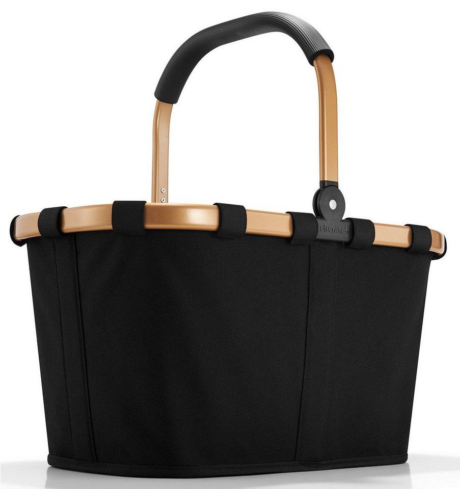 reisenthel® Einkaufskorb gold/black, »carrybag frame« in schwarz/goldfarben