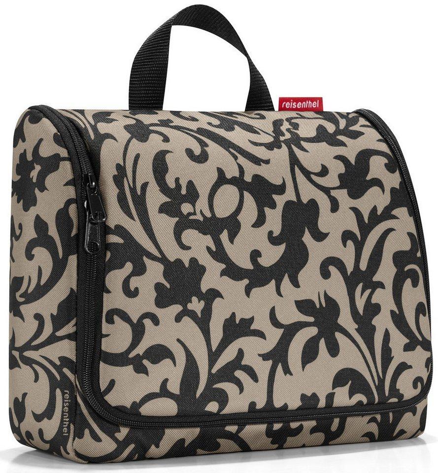 reisenthel® Kosmetiktasche baroque taupe, »toiletbag XL« in schwarz/beige