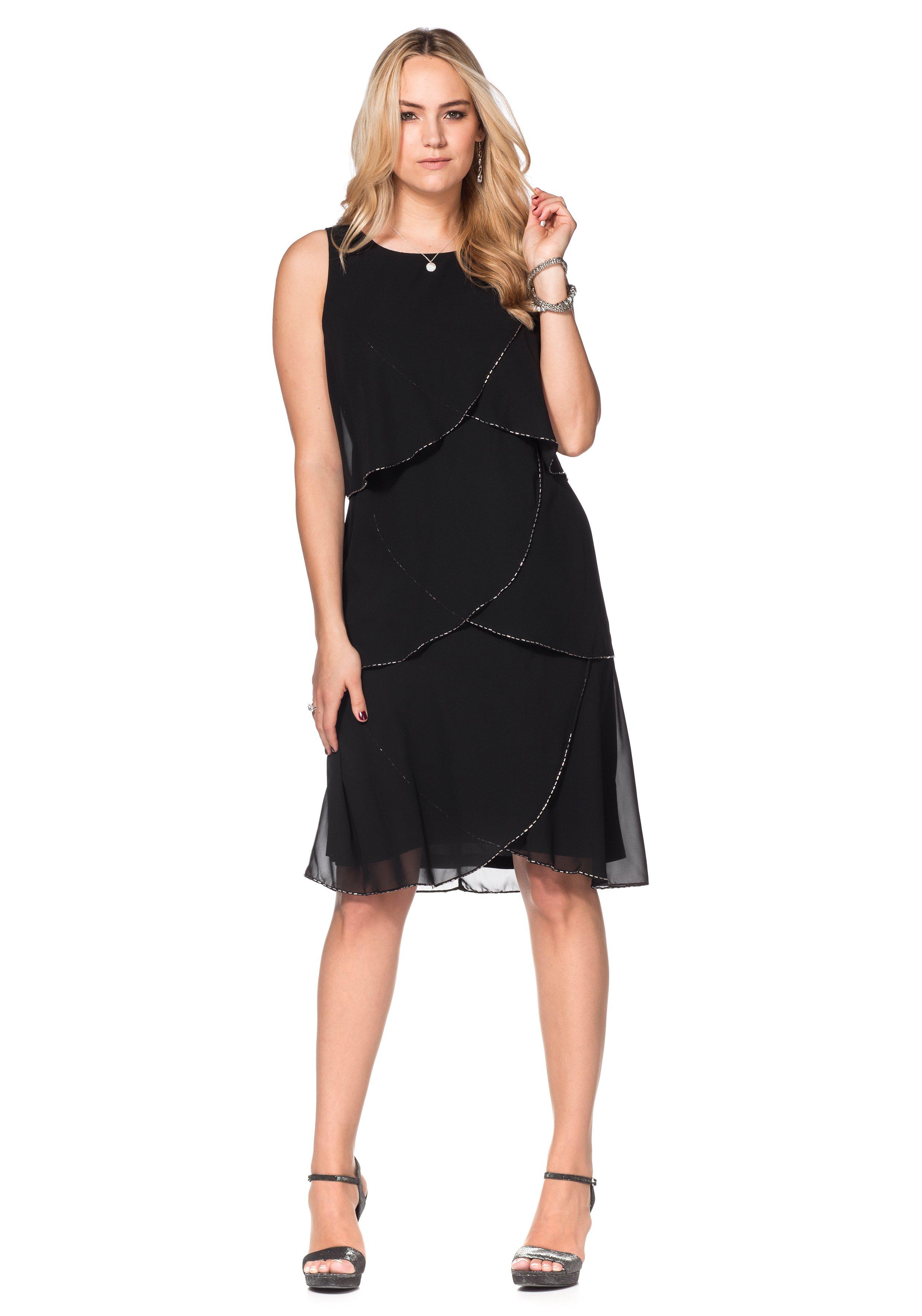 sheego Style Kleid mit Volants von OTTO - Ihr Online-Shop in black - Schwarz für 89,99€