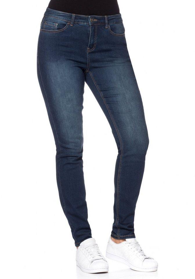 sheego Denim Power-Stretch Jeans 5-Pocket in dark blue Denim