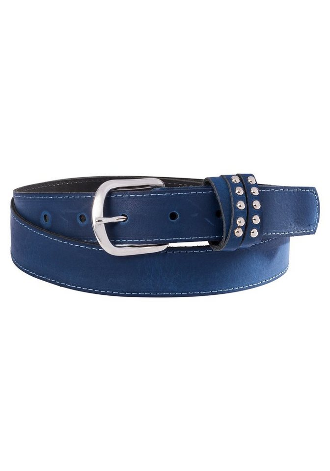 sheego Ledergürtel in blau