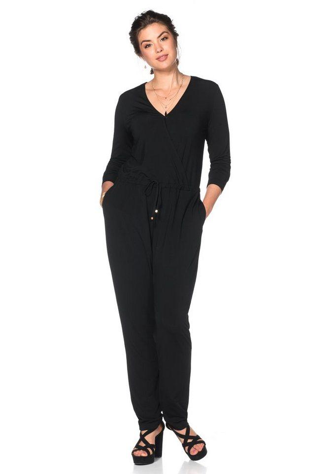 sheego Style Jumpsuit in schwarz