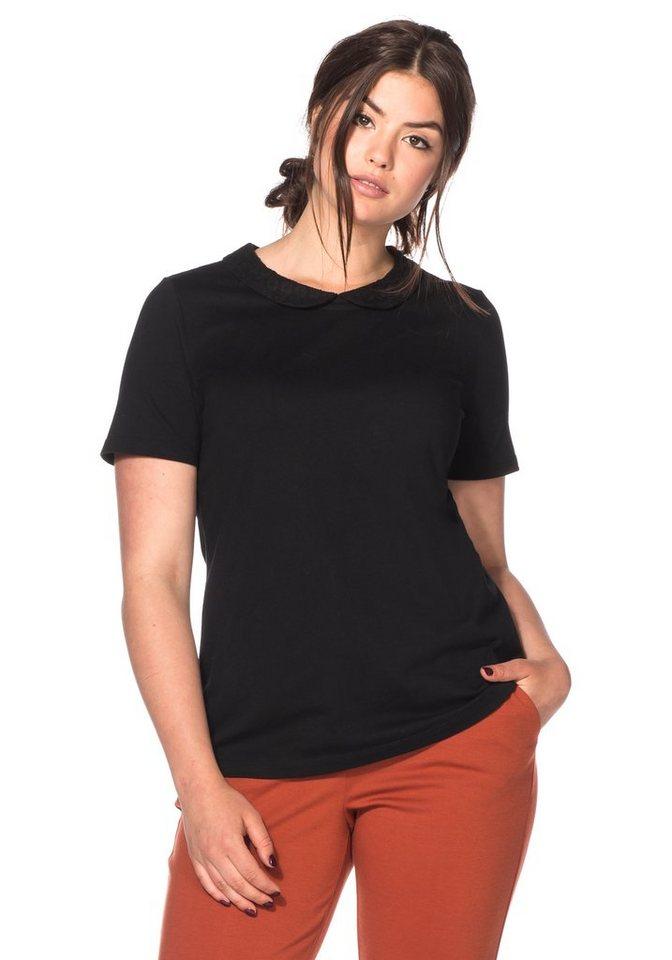 sheego Trend T-Shirt mit Bubikragen