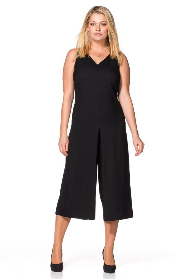 Sheego Class Kleid in Culotte-Form in schwarz
