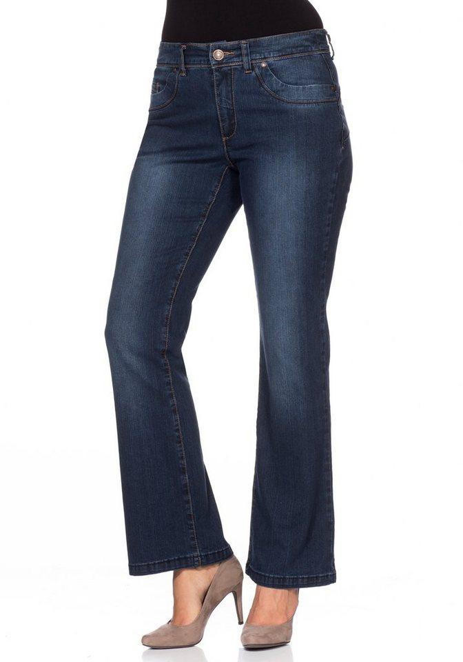 sheego Denim Push-up Stretch-Jeans in dark blue Denim