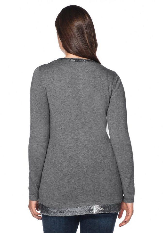 sheego Style Pullover mit Pailletten