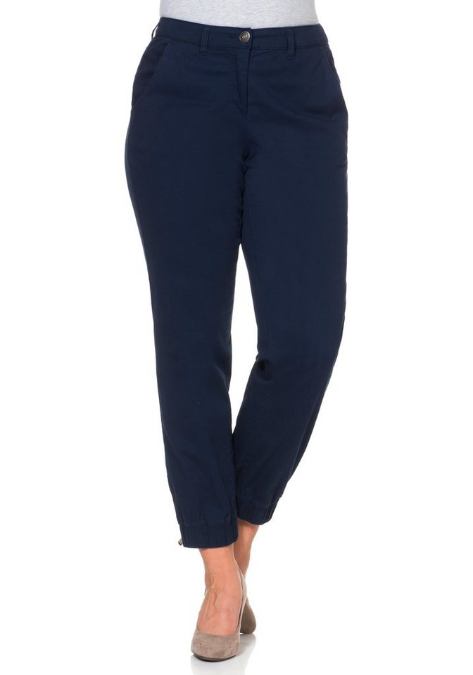 sheego Casual Stretchhose in Joggpants-Stil in marine