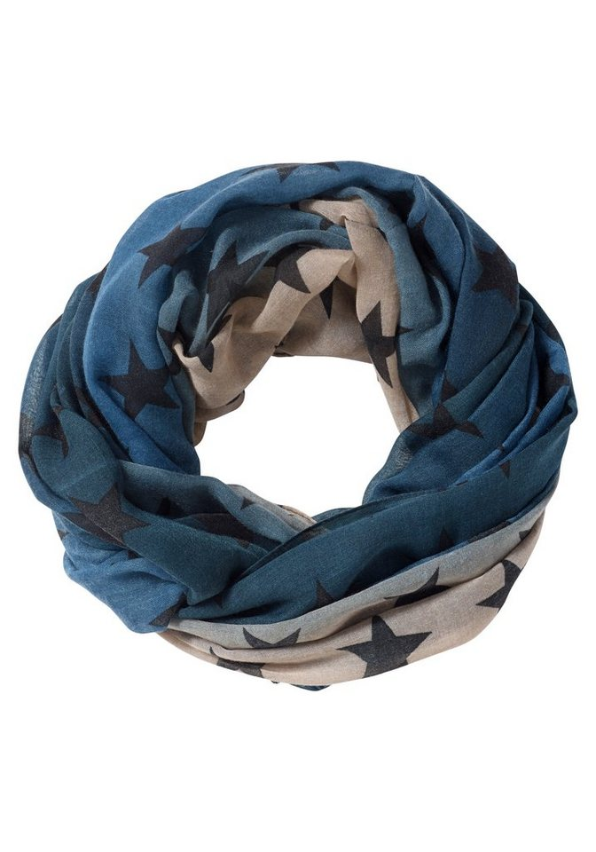 sheego Casual Loop in blau-beige