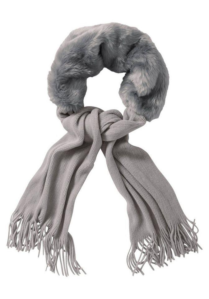 sheego Style Schal in grau