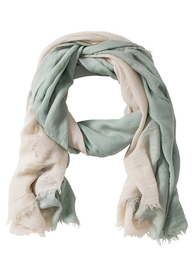 sheego Casual Schal aus reiner Viskose in beige-mint