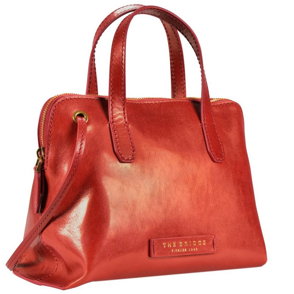 The Bridge Plume Luxe Donna Handtasche Leder 25 cm in rosso ribes