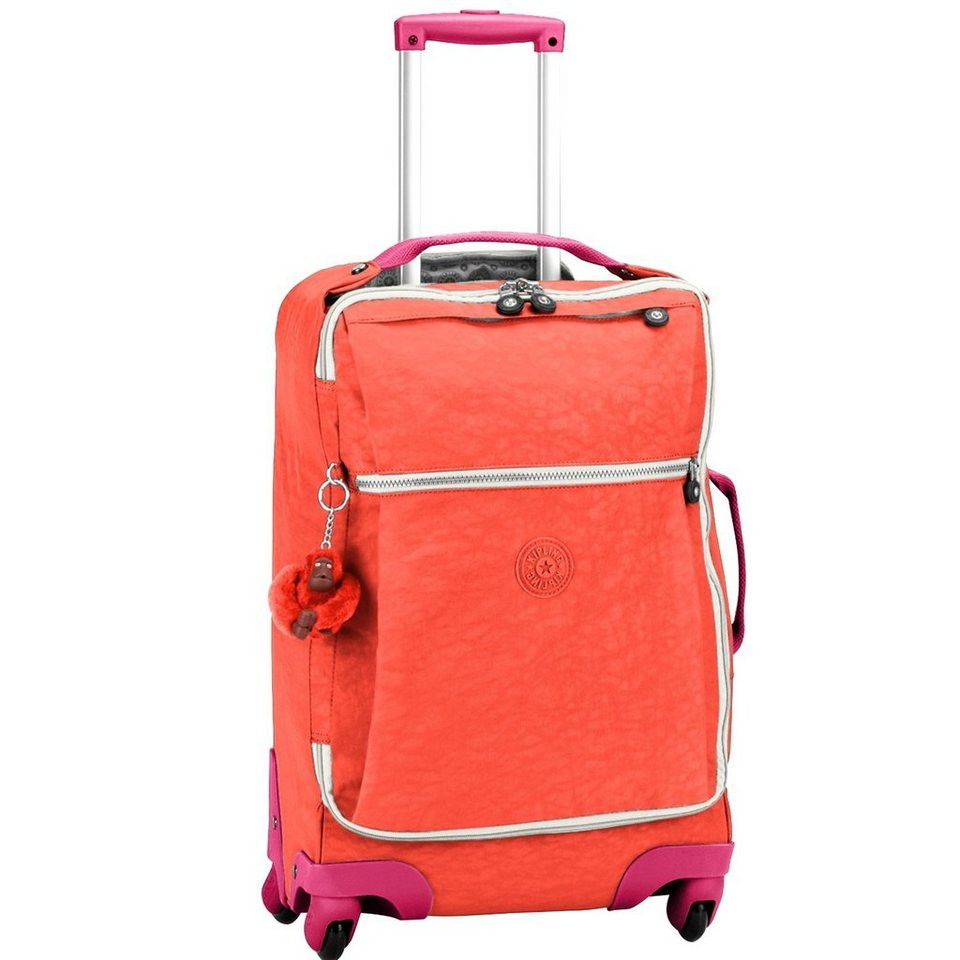 Kipling Basic Travel Darcey 15 M 4-Rollen Trolley 67 cm in coral rose ct