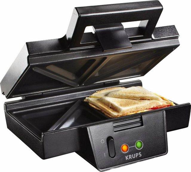 Krups Sandwichmaker FDK451, 850 W, Antihaftbeschichtete Platten
