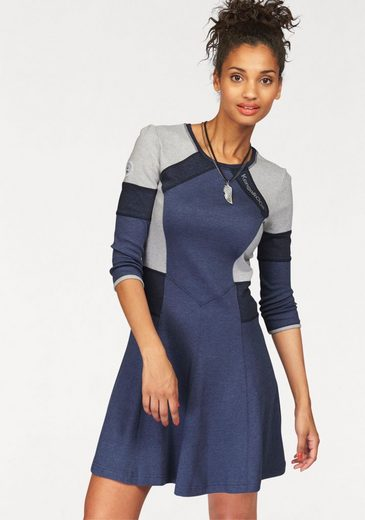 KangaROOS Sweatkleid, in Colourblocking-Optik