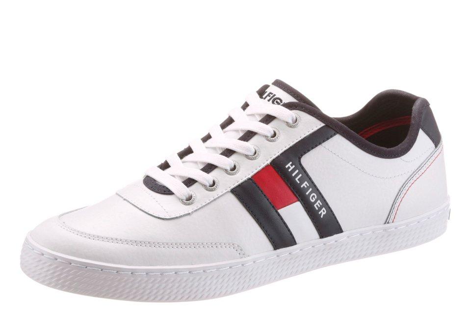 Tommy Hilfiger Sneaker mit Ziernähten in weiß-dunkelblau