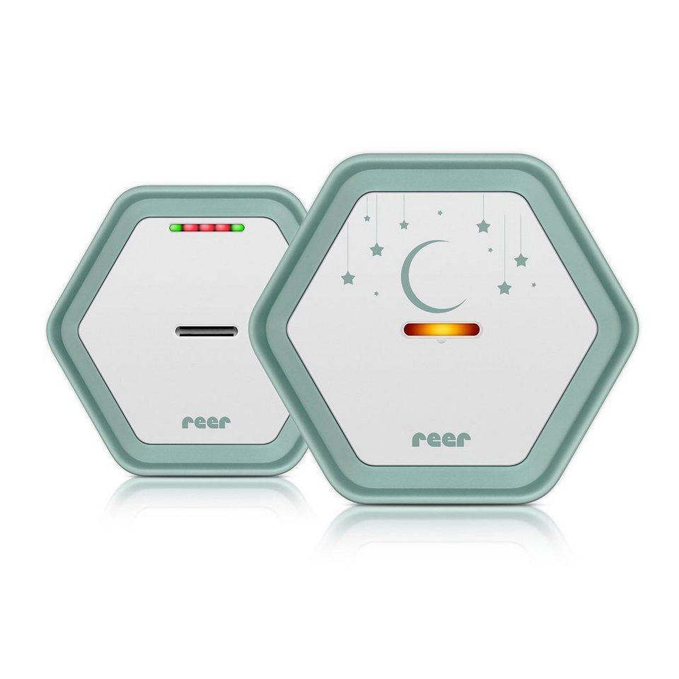 reer Babyphone BeeConnect + Gratis LED Beruhigungslicht, 330 m in weiß