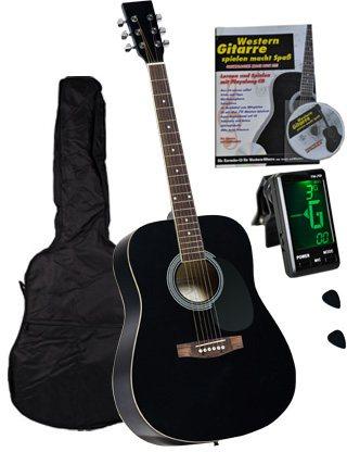clifton 4 4 westerngitarrenset dreadnought gitarre mit. Black Bedroom Furniture Sets. Home Design Ideas