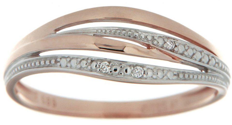 Vivance Jewels Ring mit Brillanten in Roségold 333-bicolor