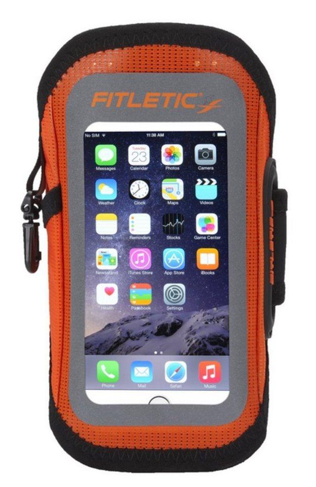 Fitletic Sportarmband »Smartphone Armtasche EASY - Größe S/M« in Orange-Anthrazit