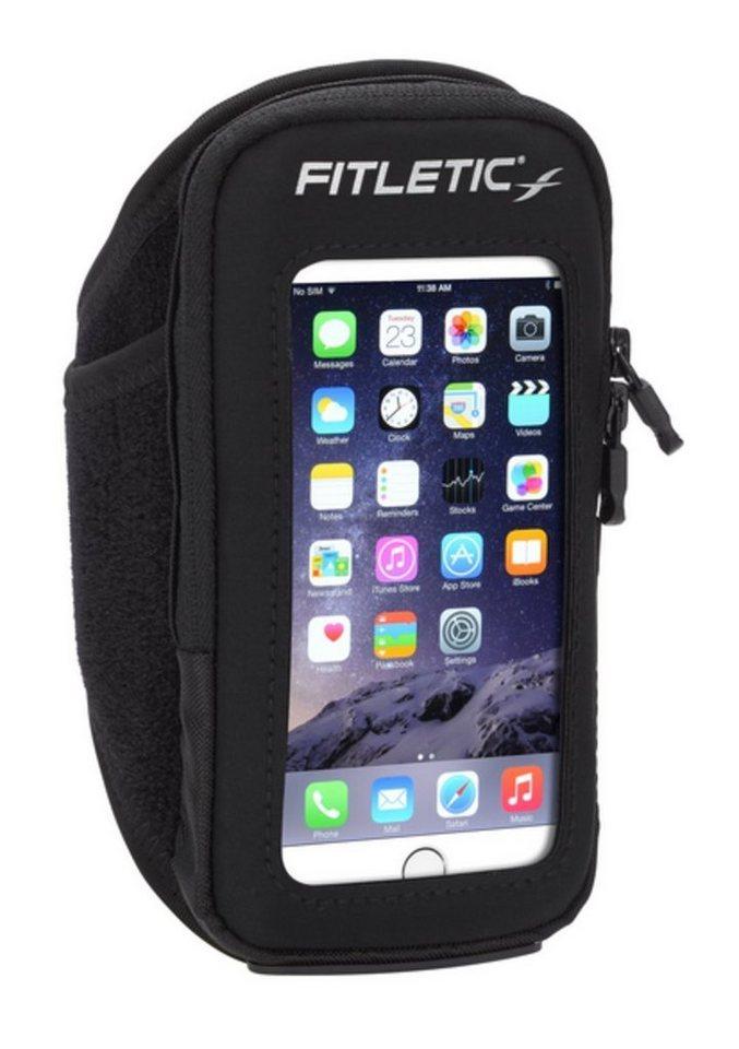 Fitletic Sportarmband »Smartphone Armtasche PREMIUM - Größe S/M« in Schwarz-Anthrazit
