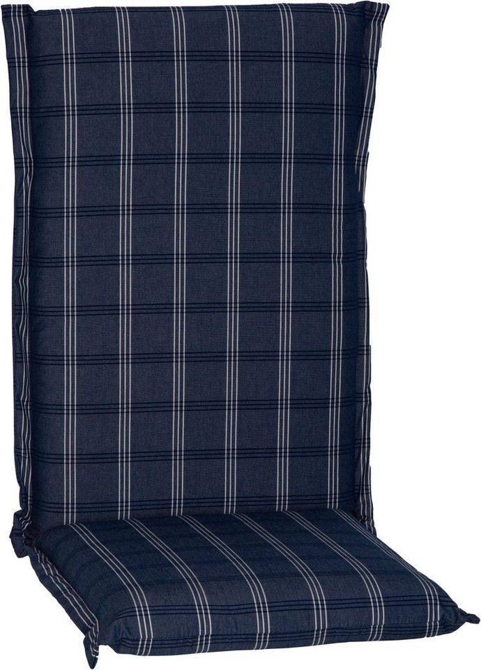 Hochlehnerauflage »Ascot« in blau