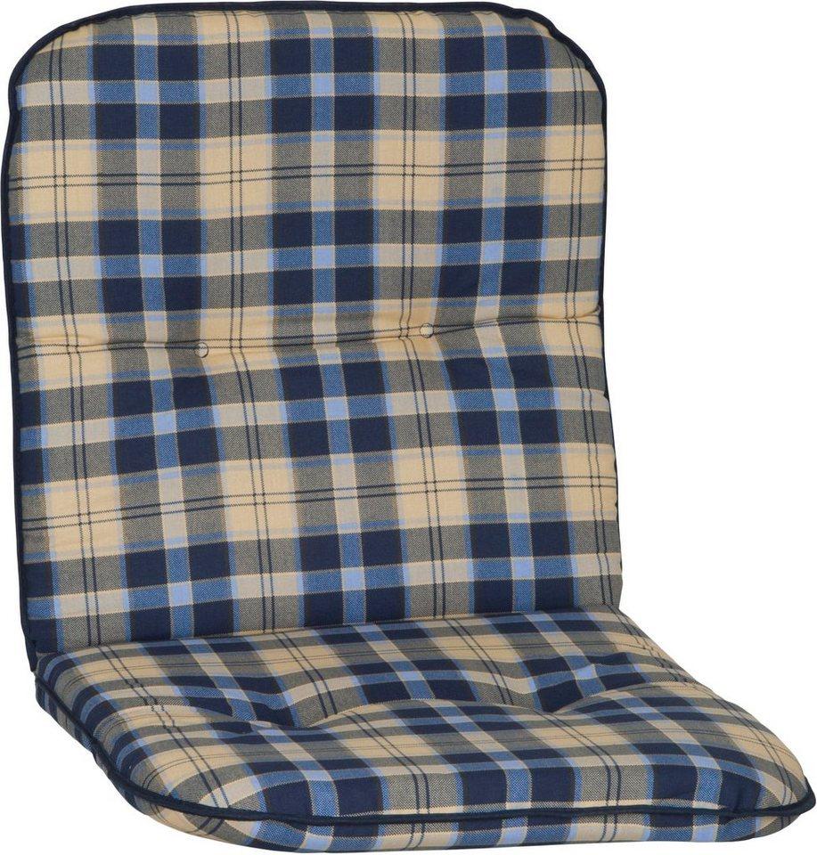 Sesselauflage »Capri« (4 Stück) in beige/blau