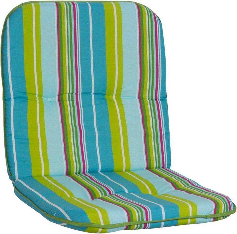 Sesselauflage »Capri« (4 Stück) in hellblau/hellgrün