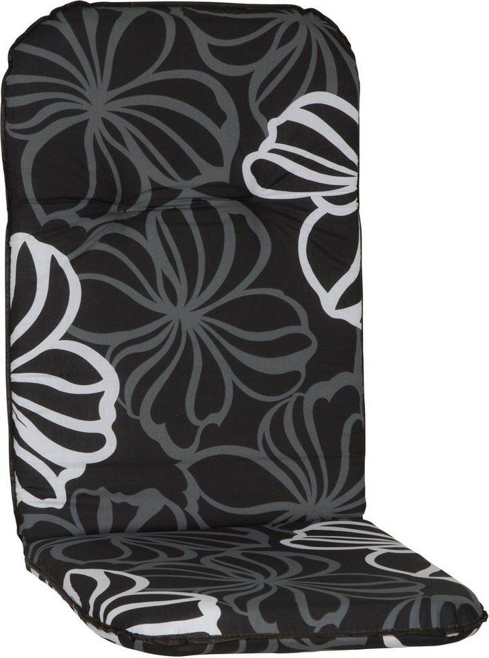 Hochlehnerauflage »Bali« (4 Stück) in schwarz