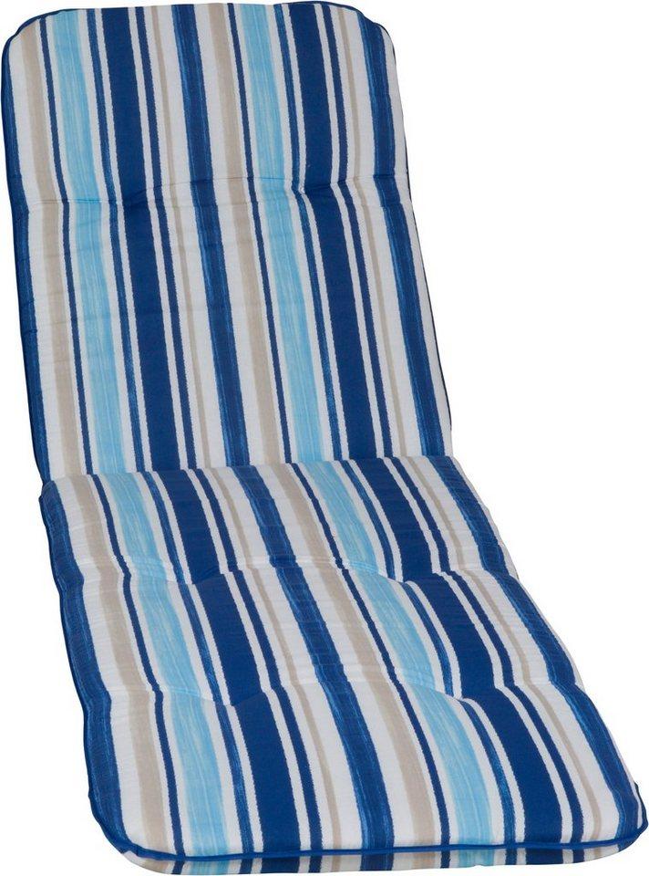 Liegenauflage »Capri«, (L/B): ca. 190x58 cm in hellblau/weiß