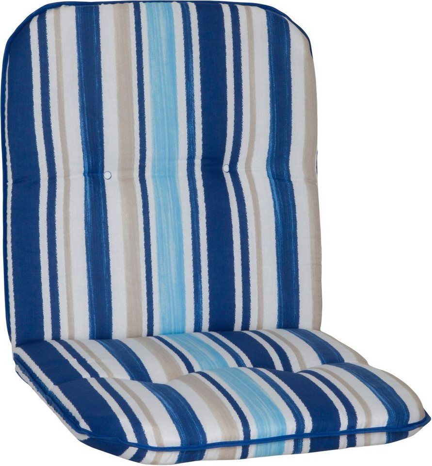 Sesselauflage »Capri« (4 Stück) in hellblau/weiß