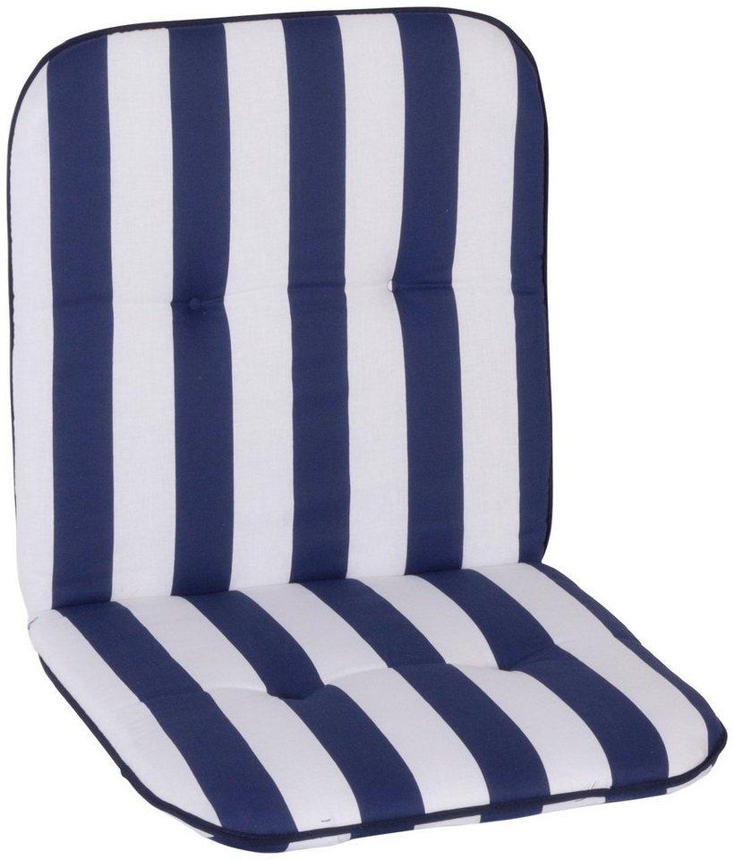 Sesselauflage »Capri«, (L/B): ca. 96x48 cm in blau/weiß