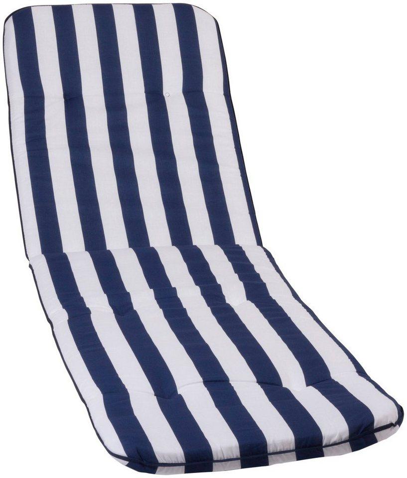 Liegenauflage »Capri«, 190x58 cm in blau/weiß