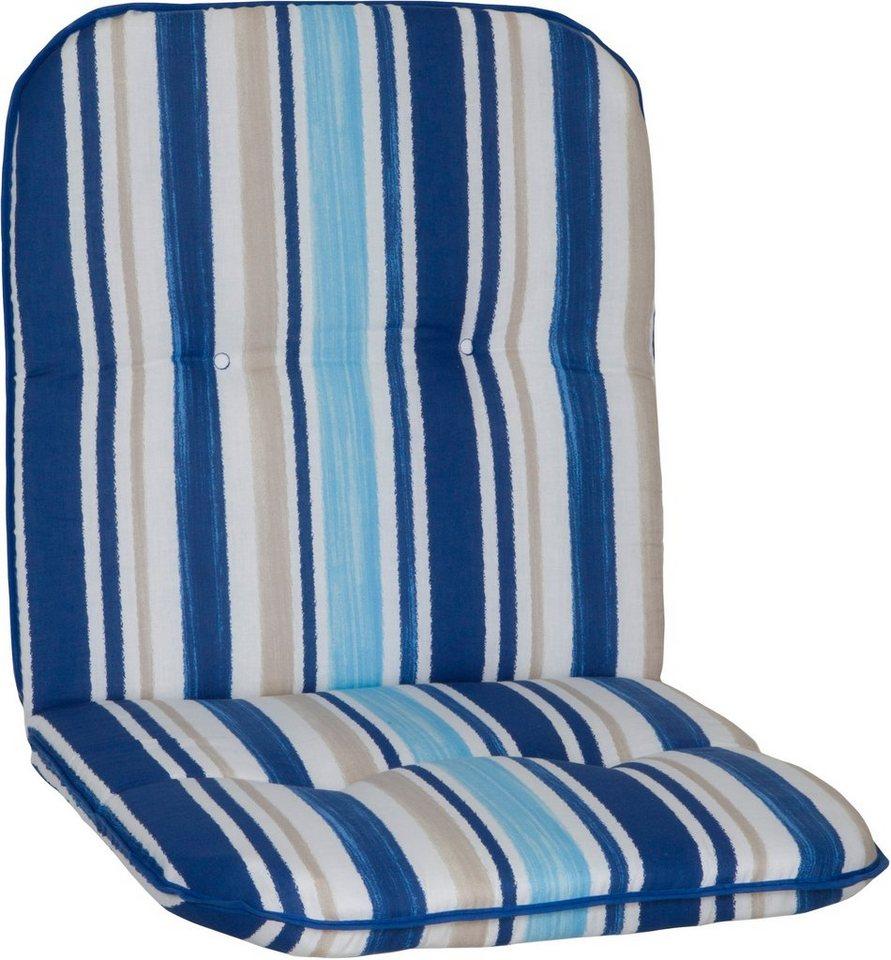 Sesselauflage »Capri«, (L/B): ca. 96x48 cm in hellblau/weiß