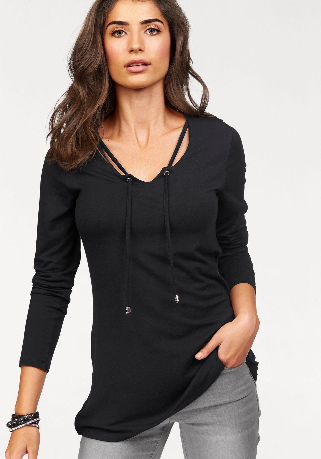Boysen´s Longshirt, mit trendiger Schnürung - broschei