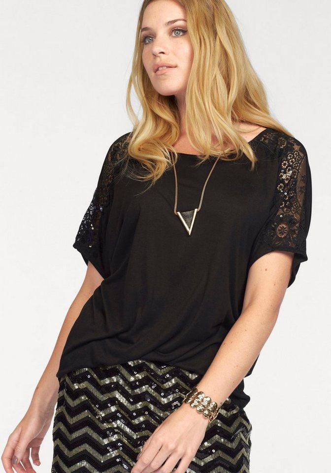 Vero Moda Rundhalsshirt »LISBETH« mit tiefem Rückenausschnitt in schwarz