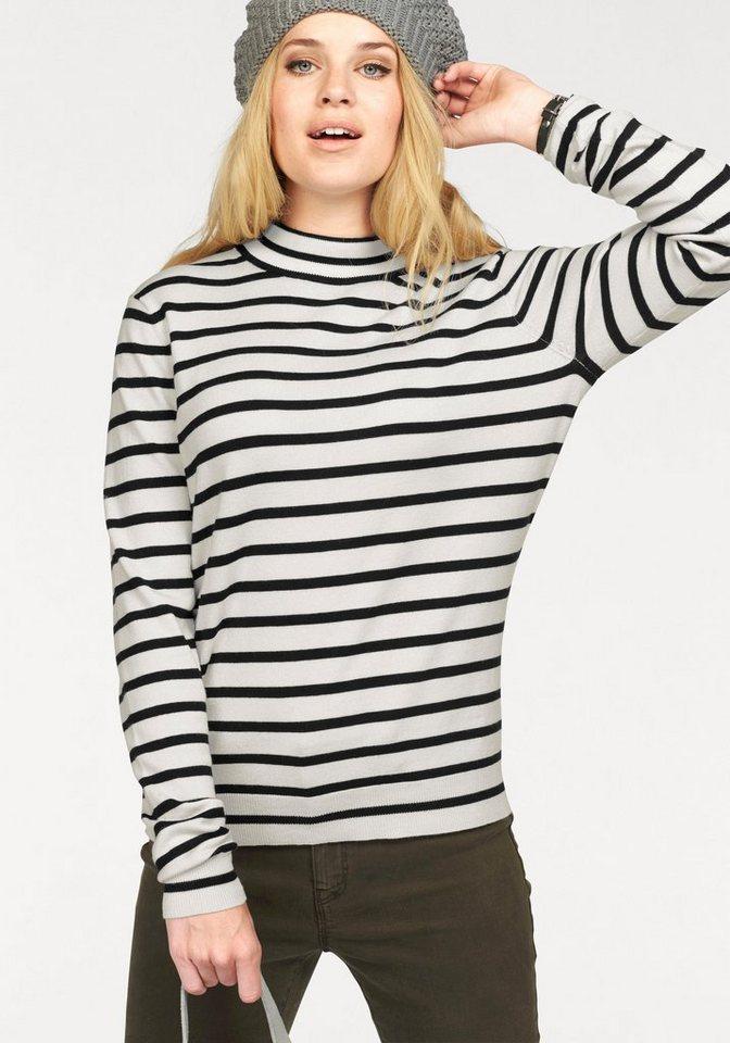 Vero Moda Streifenpullover »GLORY STRIPE« mit Turtleneck in weiß-schwarz