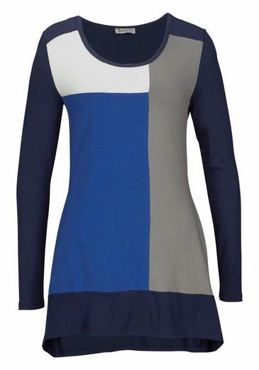 Boysen's Vokuhila-Shirt, im Colour-Block-Design