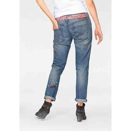 Levi's® Boyfriend-Jeans »501 Jeans« Mit Stickerei