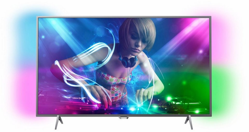 Philips 49PUS6401/12 LED TV (123 cm (49 Zoll), Ultra HD, Ambilight) inkl. 36 Monate Garantie in silberfarben