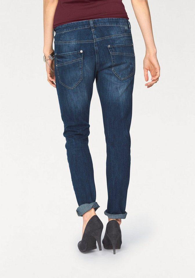 MAC Stretch-Jeans »Sexy Carrot« Starke Used Effekte in blue-stone
