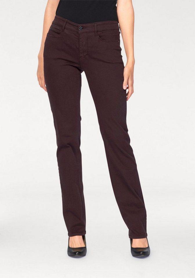 MAC 5-Pocket-Jeans »Dream« Zaubert die Figur eine Größe kleiner in bordeaux