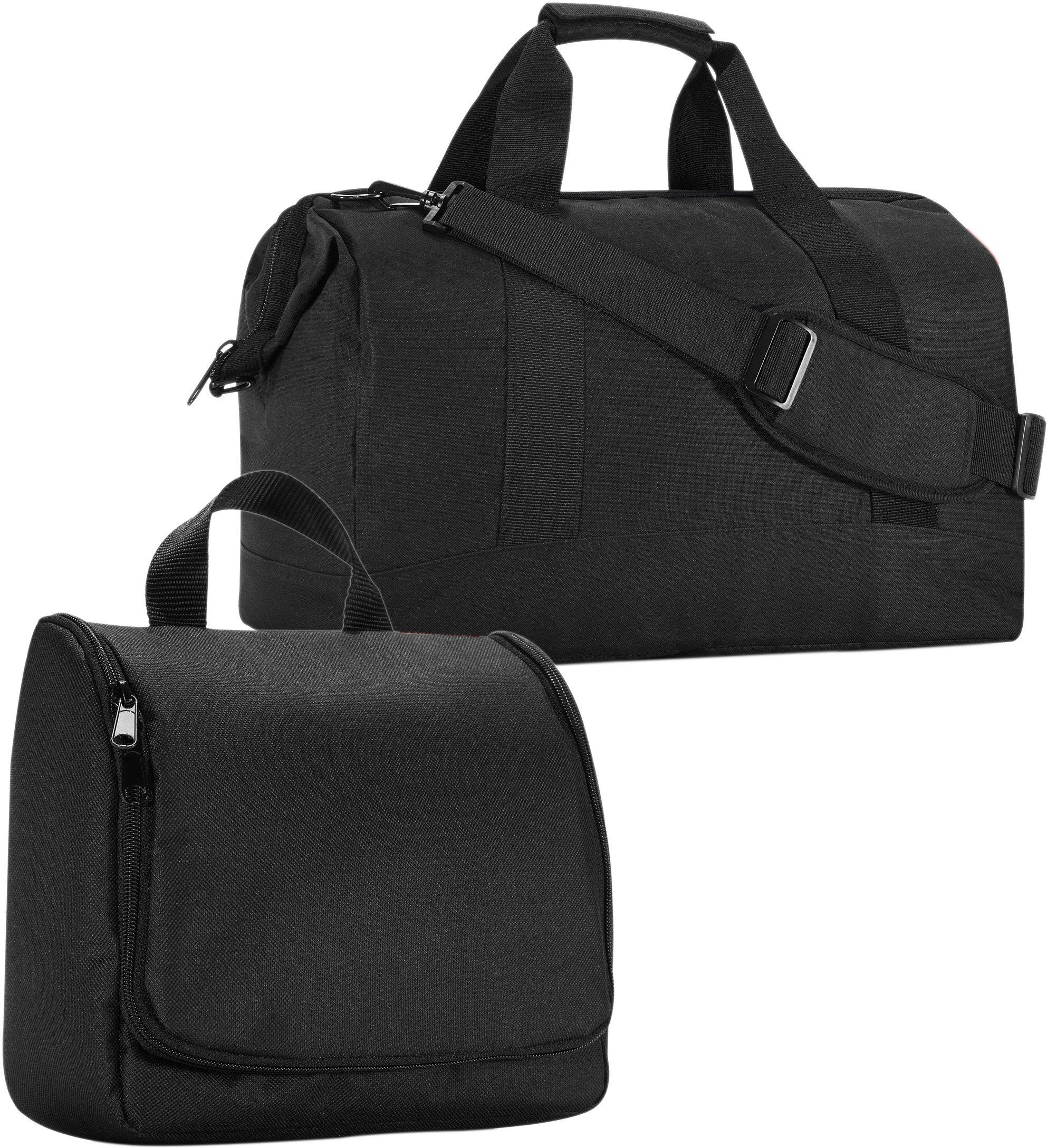 reisenthel® Reisetasche »allrounder« und Kosmetiktasche »toiletbag« black im SET