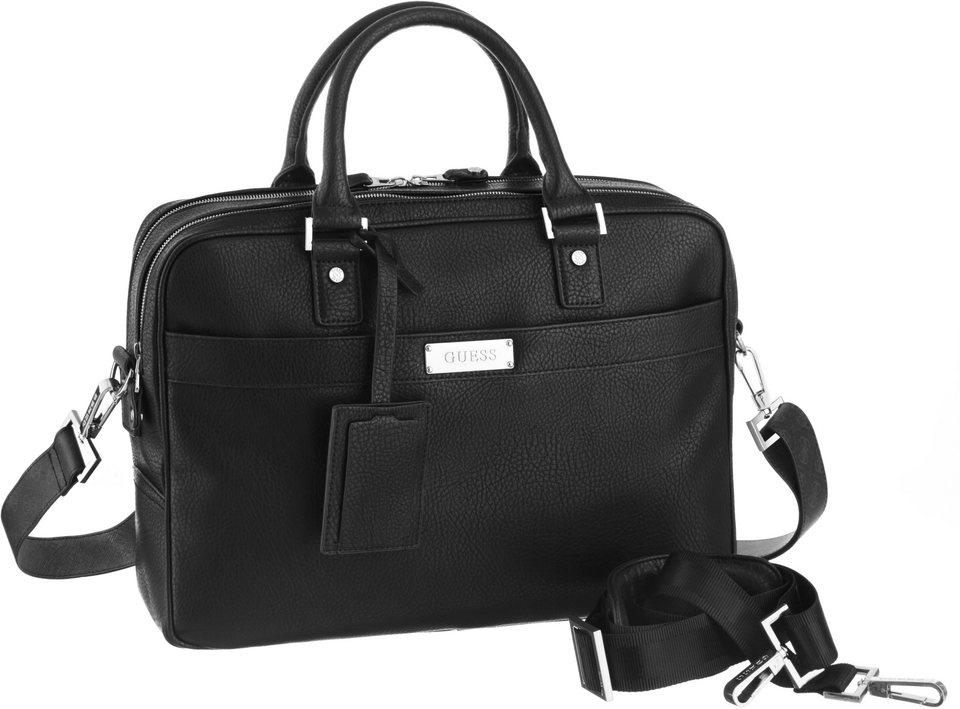 Guess Messenger Bag mit Laptopfach in schwarz