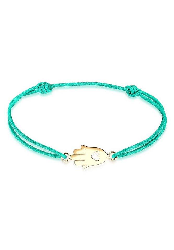 Elli Armband »Hamsa Hand vergoldet« in Türkis
