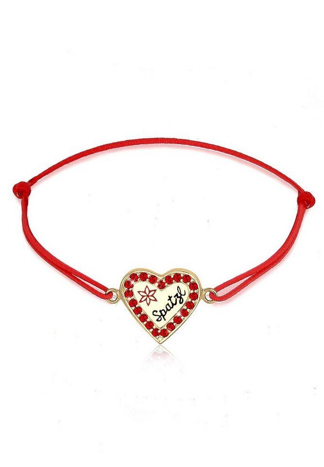 Elli Armband »WIESN TRACHT Spatzl Swarovski Kristalle« in Rot