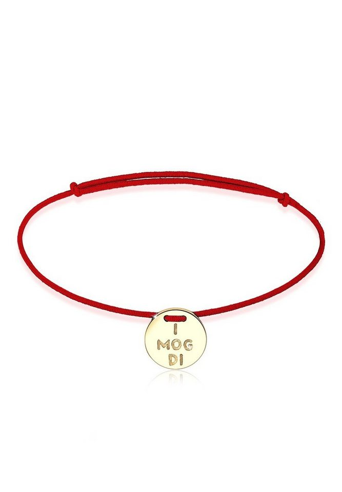 "Elli Armband »WIESN TRACHT ""I mog di"" vergoldet« in Gold"