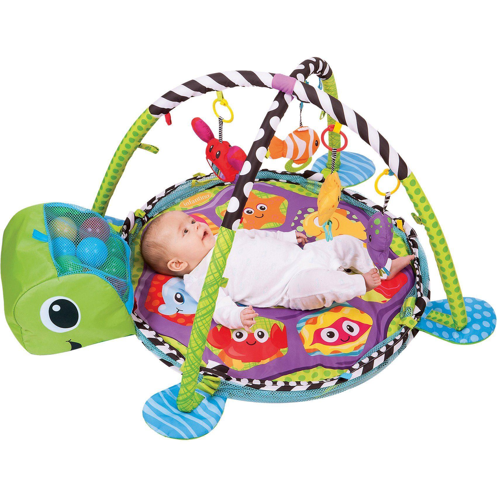 Infantino BKids Babydecke mit Spielbogen & Bällebad Schildkröte