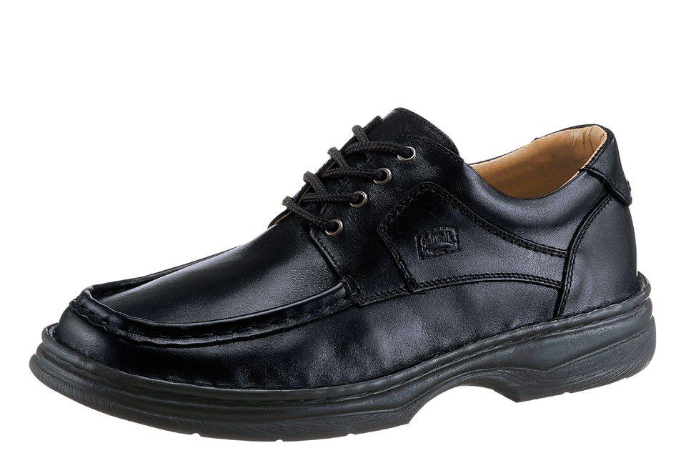 SoftWalk Schnürschuh mit Wechselfußbett in schwarz